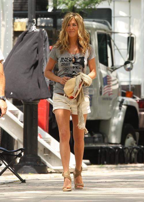 Jennifer Aniston filming in New York
