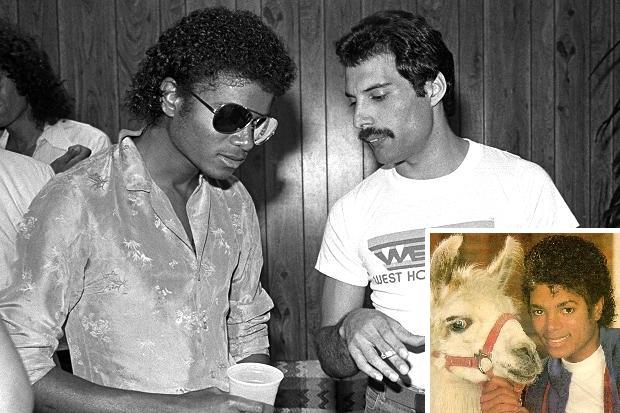 Virgin Tonic : L'histoire de Queen, Michael Jackson et... d'un lama ! Michaeljacksonfreddiemercury1