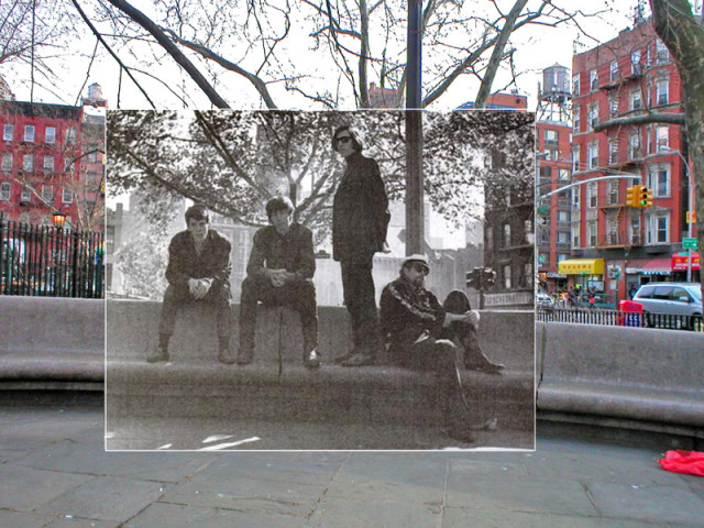 The Velvet Underground photographed by Donald Greenhaus on Ludlow Street